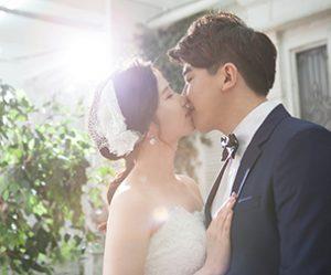 Married Couple Wedding Kiss